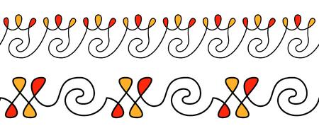 Pysanky ornament. Ethnic pattern for eggs decorate. Horizontal stripes pattern. Seamless pattern Foto de archivo - 124926006