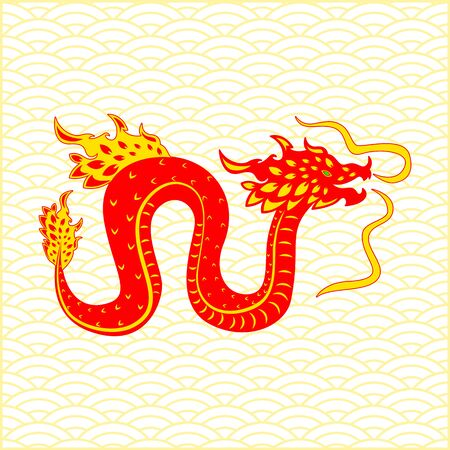 Traditional chinese Dragon character.