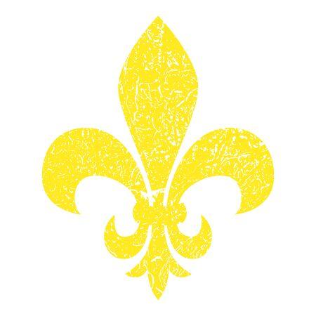 Fleur de lis. Heraldic lily. Mardi Gras Symbol