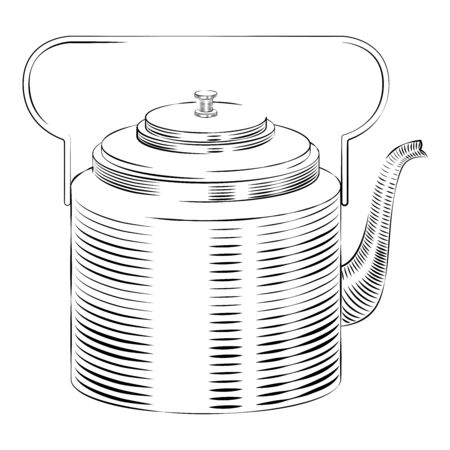 International Tea Day. Agricultural holiday concept. Copper retro teapot