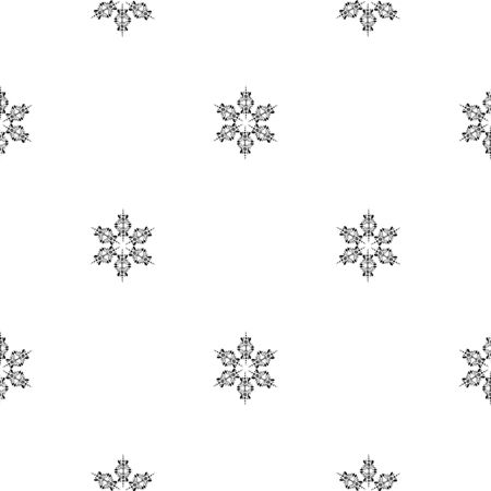 Snowflakes in ethnic style. Seamless pattern. Uniform chess layout. Small items. For winter, New Year, Christmas projects