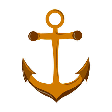 Nautical Anchor vector isolated on white.