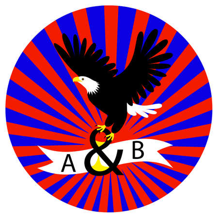 Eagle icon Template. Flying eagle holding