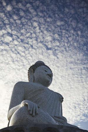 phuket province: Giant statue of Big Buddha of Phuket. Phuket island, Thailand. Vertical shot.
