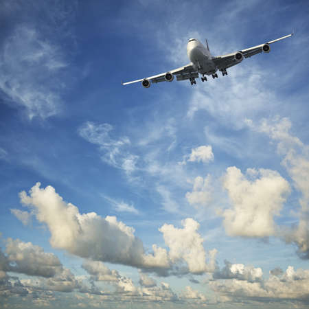 Jet aircraft in flight Standard-Bild
