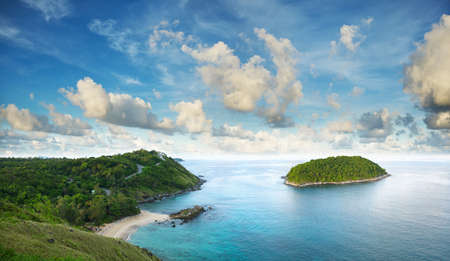 Tropical sea scenery. Panoramic composition in high resolution. Stock Photo