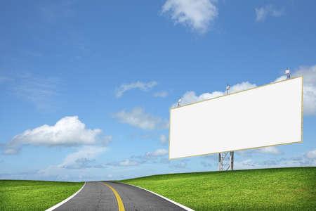 Blank billboard Banco de Imagens