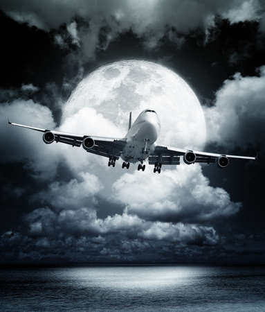 Night flight Banco de Imagens