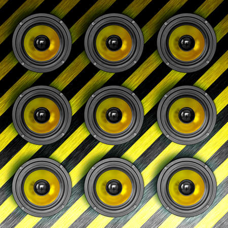 Wall of sound. Square composition. Stock Photo - 12461909