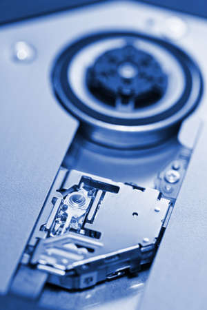 optical disk: Optical disk drive, blue toned Stock Photo