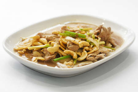 Traditional thai food, beef and cashew nuts Stock Photo - 13710393