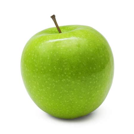 青リンゴ、白い背景で隔離 写真素材