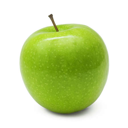Green apple, isolated on white background Banco de Imagens