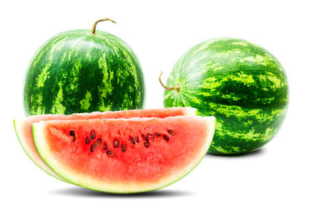 Watermelons, isolated on white background. In high resolution. photo