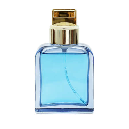 Bottle of perfume, isolated on white background photo