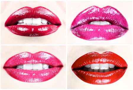 Beautiful female lips collection photo