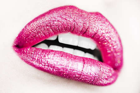 Seductive lips macro
