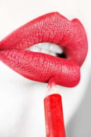 Lips make up photo