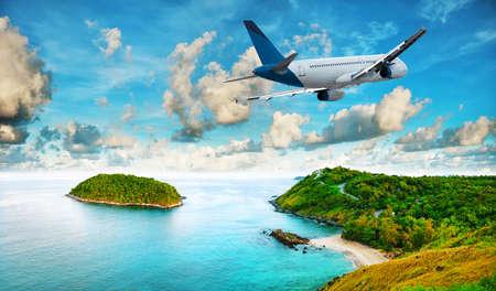 Jet es el resort tropical en la mañana. HDR procesada.