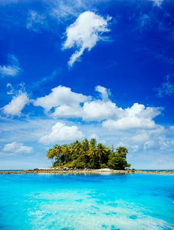 Picturesque tropical island in sunny day photo