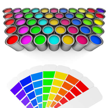 choosing: Choosing the color concept Stock Photo