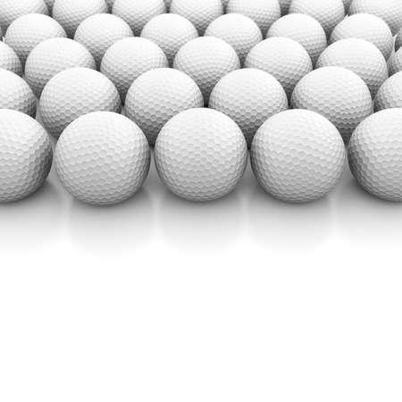 Golf balls on white Stock Photo