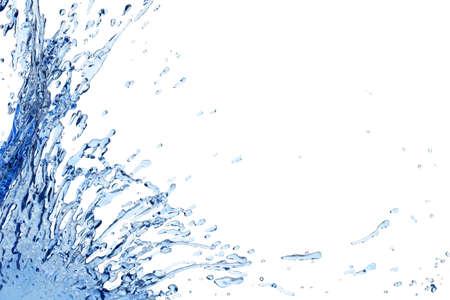 wave: Nice water splash against white