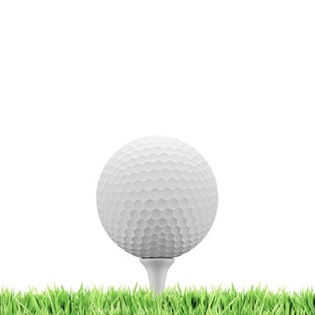 3d ball: Golf concept with a lot of space for a background of your choice