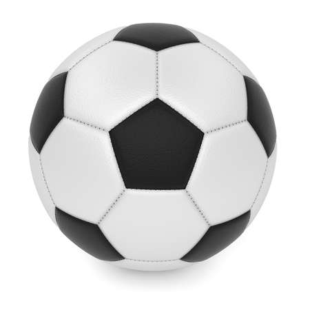 Textured leather football ball