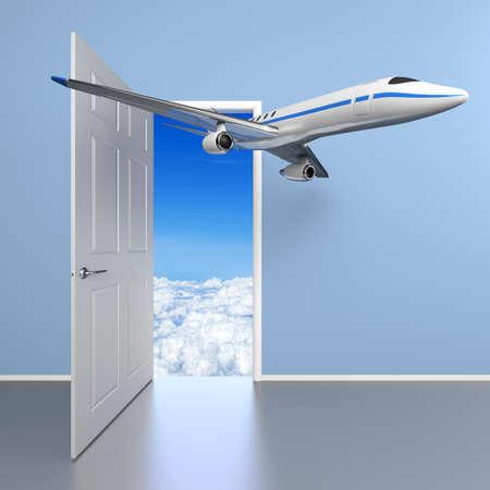 air travel: Air travel