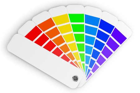 paleta de pintor: Paleta de colores  Foto de archivo