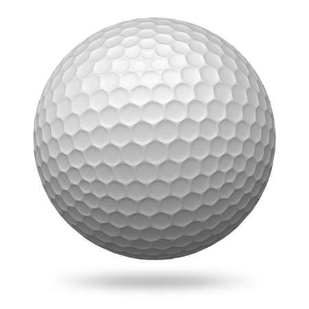 pelota de golf: Golf ball isolated on white