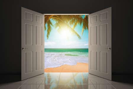 doorway: Doorway to the beautiful tropical beach