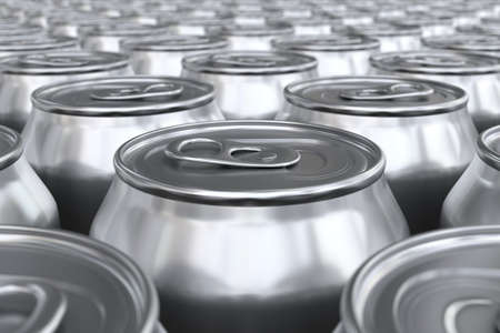 canned drink: 3D render of soda cans