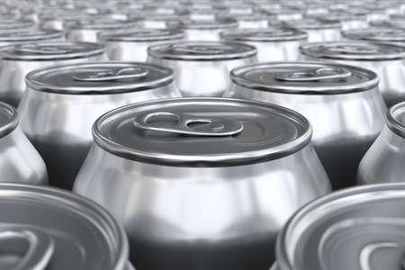 carbonated beverage: 3D render of soda cans