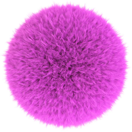 puffy: 3D render of the pink fur sphere