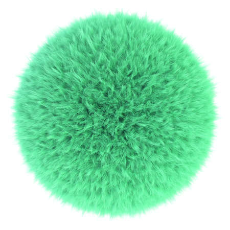 puffy: 3D render of light green fur sphere