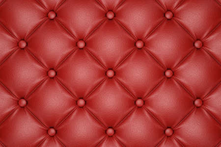 quilted: 3D render of the red quilted leather pattern