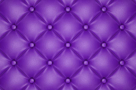 tuft: 3D render of the purple quilted leather pattern Stock Photo