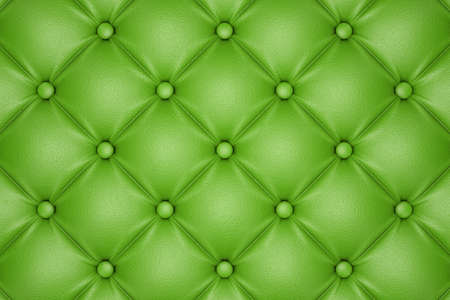 3D render of the green quilted leather pattern Stock Photo