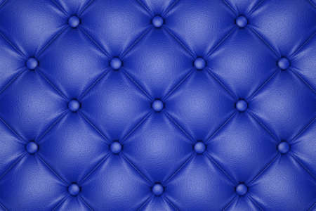 3D render of the blue quilted leather pattern Stock Photo