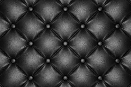 quilted fabric: 3D render of the black quilted leather pattern