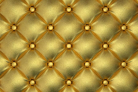 quilted fabric: 3D render of the golden quilted leather pattern