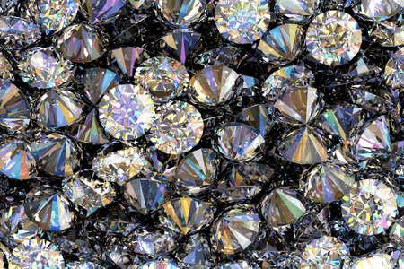 Diamonds as background 3D illustration