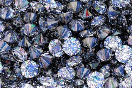Shining diamonds as background 3D illustration Stockfoto