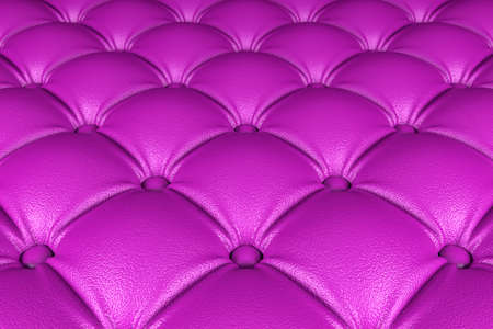 3D realistic illustration of the pink quilted leather pattern perspective view Stockfoto