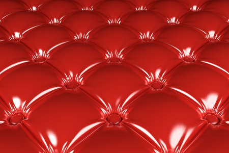 3D realistic illustration of the red quilted latex pattern perspective view Stockfoto