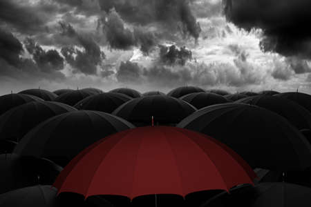 Lead the way through the storm 3D illustration Stockfoto