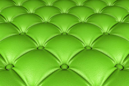 3D realistic illustration of the green quilted leather pattern perspective view