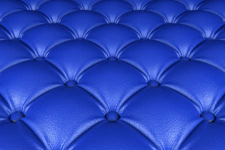 tuft: 3D realistic illustration of the blue quilted leather pattern perspective view